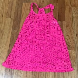 Other - Girls racerback swim coverup hot pink